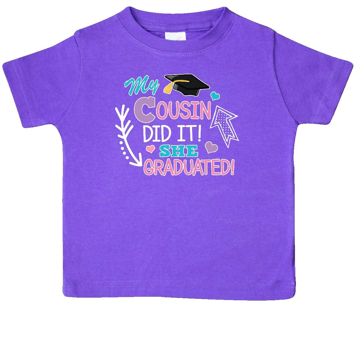 inktastic My Cousin Graduated with Cap and Arrows Baby T-Shirt