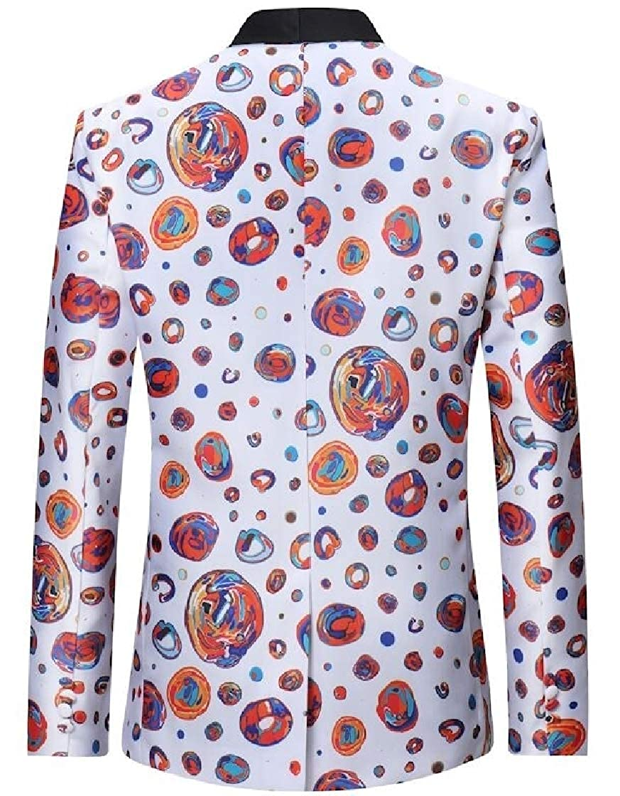 YYear Mens Slim Fit Lapel Formal Floral Print Casual Non-Iron Long Sleeve Buttons Shirts