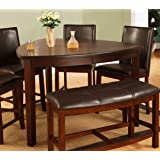 Best Quality Furniture D876T Modern Triangle Dining Table, Cherry