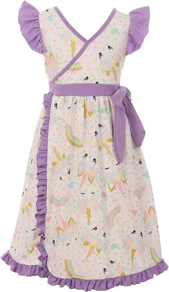 Amazon.com: Niñas pequeñas bonito unicornio y arcoíris Wrap ...