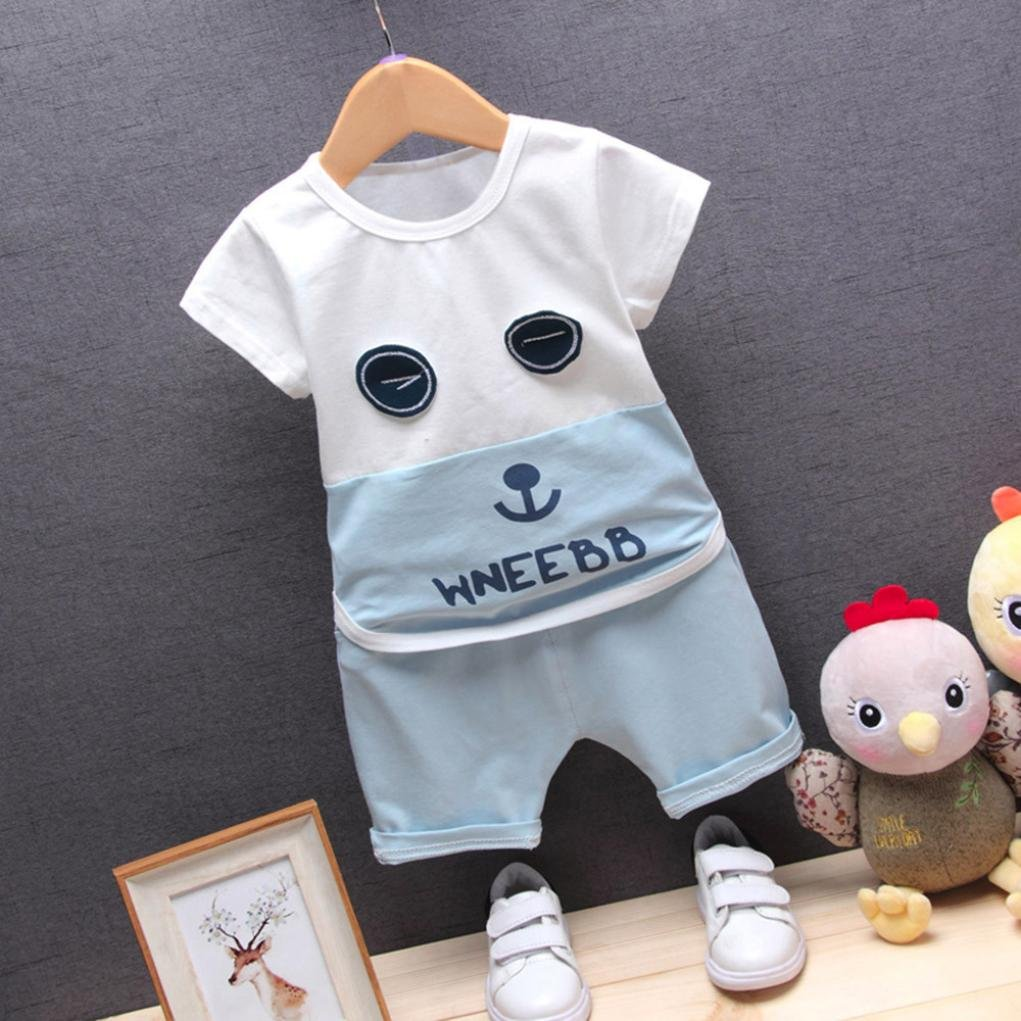 Memela Baby 2Pcs Cotton T-Shirt With Jersey Shorts Outfits