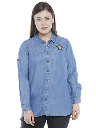 61545c951bd2 Junarose Plus Size Women Casual Shirt  Amazon.in  Clothing   Accessories