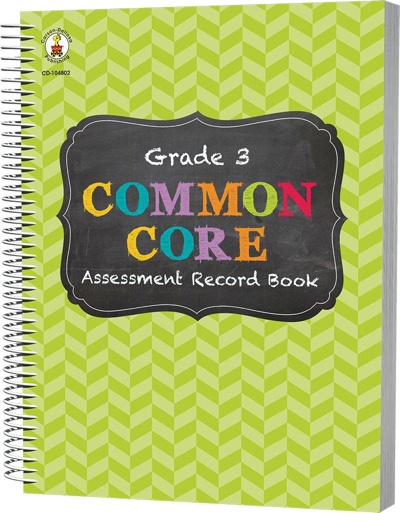 Common Core Assessment Record Book Grade K Carson Dellosa