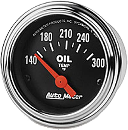 Auto Meter 2552 Traditional Chrome Electric Transmission Temperature Gauge