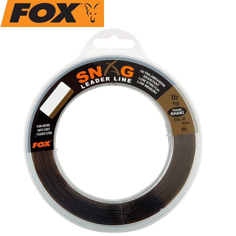 Fox Snag Leader Trans Khaki 80m 0,66mm 50lbs Vorfachmaterial zum Karpfenangeln Schlagschnur zum Angeln auf Karpfen