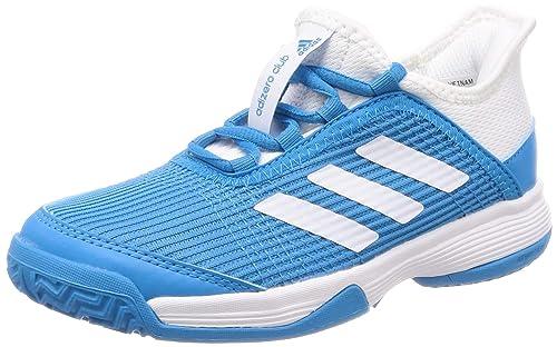 Adidas Adizero Club K, Zapatillas de Tenis Unisex Niños, Azul Shock Cyan FTWR White, 35 EU: Amazon.es: Zapatos y complementos