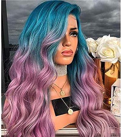 peluca peluca para mujeres pelucas gradiente de color de ...