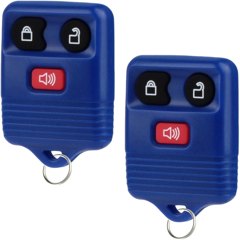 Key Fob fits 1998-2016 Ford Lincoln Mercury Mazda Keyless Entry Remote Blue