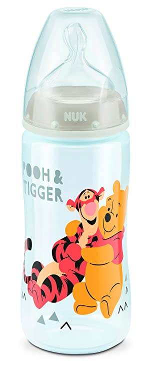 Nuk Winnie 700299 Feeding Bottles with Silicone Suction Teat Set of 3 with Winnie the Pooh Motifs