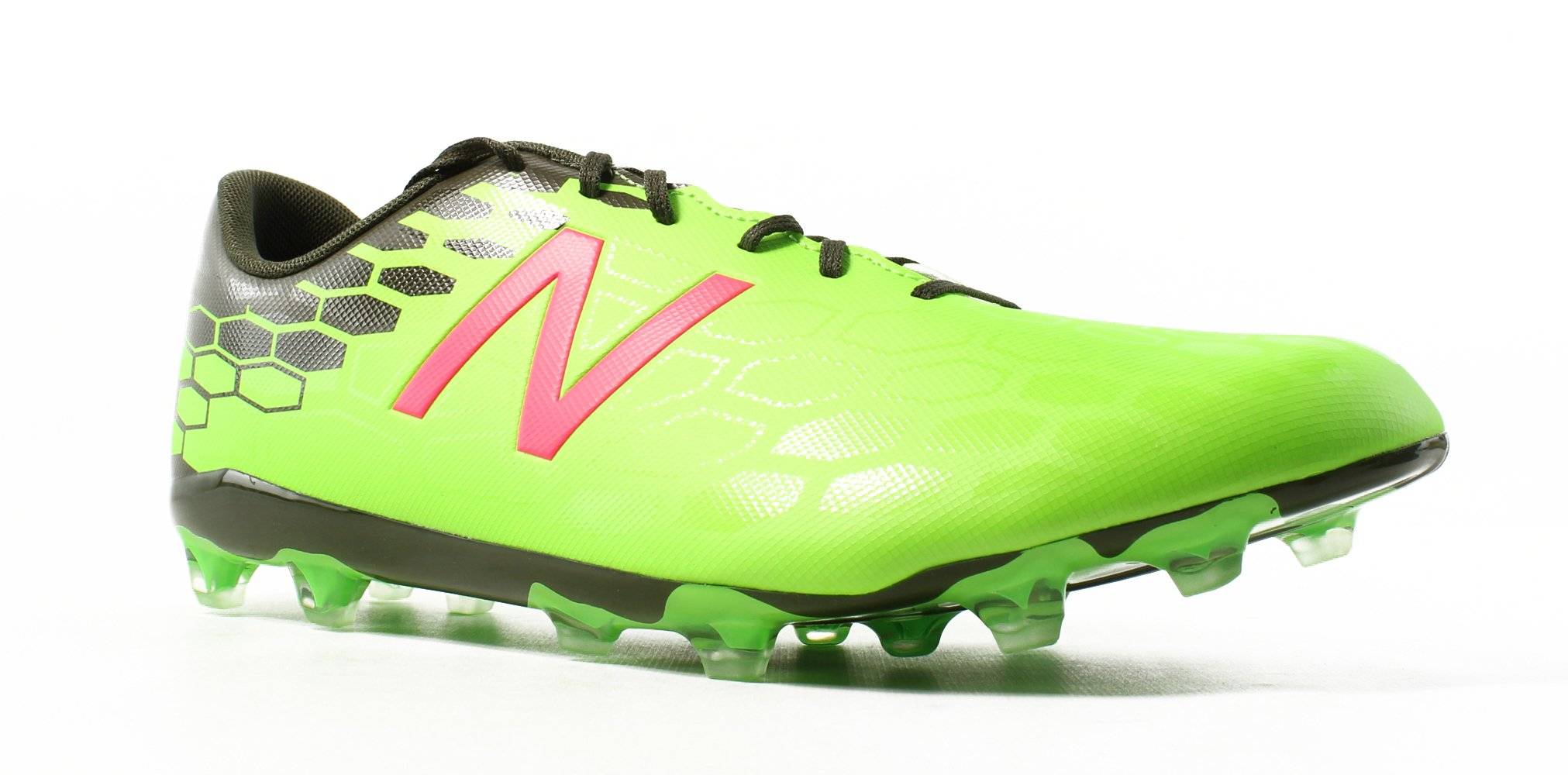 New Balance Men's Visaro 2.0 Control FG, Energy Lime/Dark Military Triumph, 12 D US