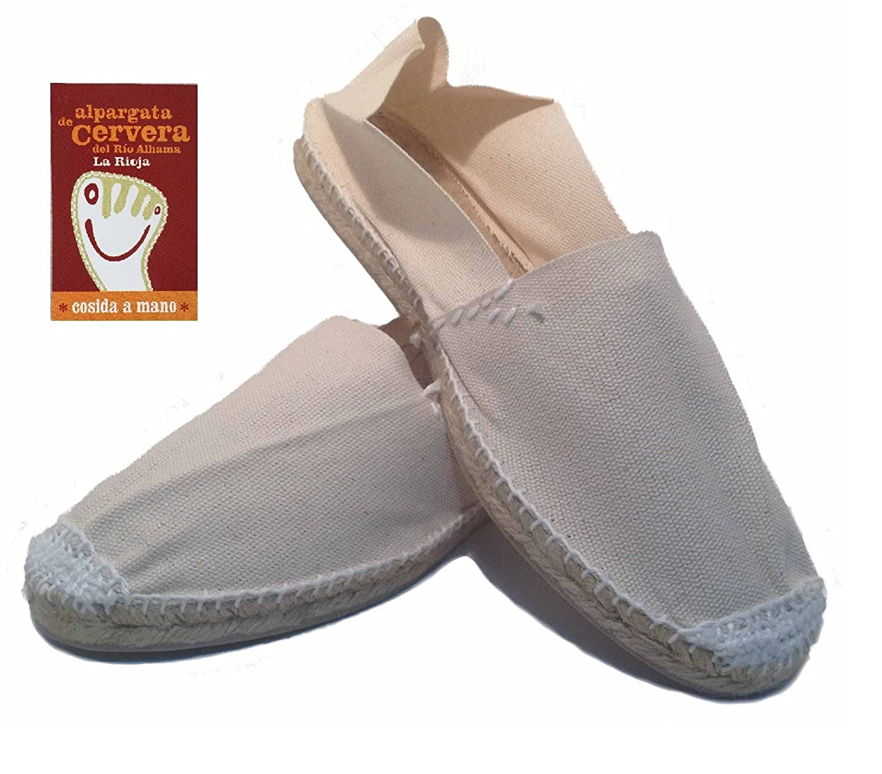 Amazon.com | Espadrilles Alpargatas Made in Spain Model Classic Flat Hand Sewn Original Cervera del Rio Alhama La Rioja | Shoes