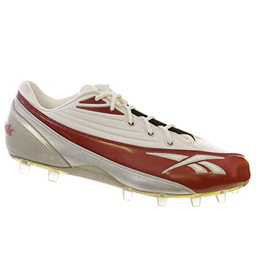 Mens Pro 4-Speed II Low M2 Football Cleats Red & White US 15