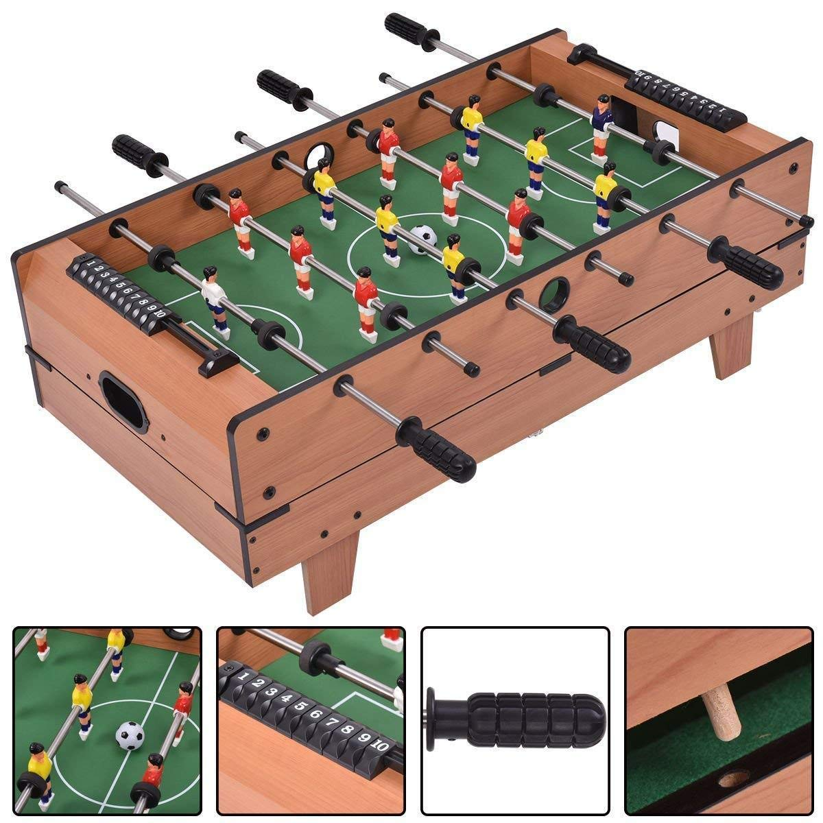 KCHEX>>>4 in 1 Multi Game Hockey Tennis Football Pool Table Billiard Foosball Gift>This 4-in-1 Swivel Table is Perfect Switching Back and Forth Between Sports. Easily Play Hockey, Billiards, Table