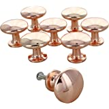 G Decor England Set of 8 Copper Door Knobs Contemporary Cabinet Pulls for Cabinets, Drawers and Dressers–Decorative…