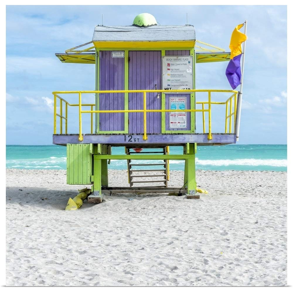 Amazon com: GREATBIGCANVAS Poster Print Entitled Miami Beach VIII by