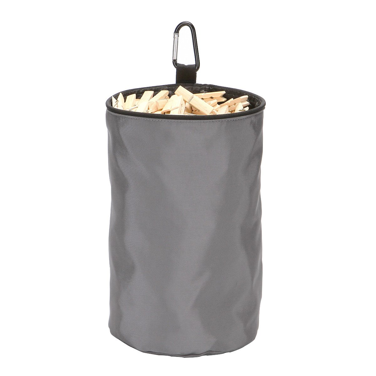 VEAMOR Clothespins Bag Hanging Clothesline Peg Organizer Storage Bags,Dust-Proof (Grey)