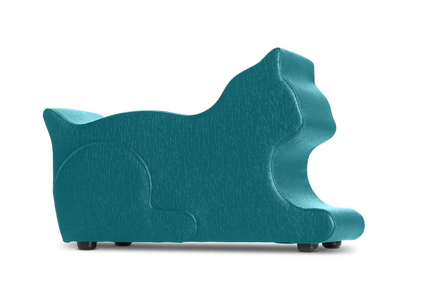 Logic Furniture MEOWXTL17 Meow Ottoman, Teal