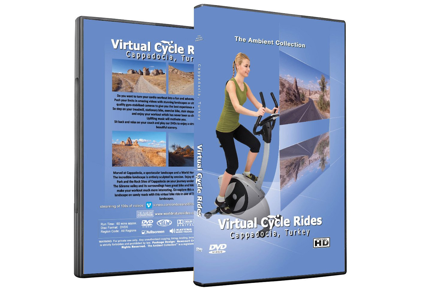 Virtual Cycle Rides DVD - Cappadocia, Turkey - for Indoor Cycling, Treadmill and Running Workouts
