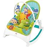 Baby Gear Fisher-Price CMR10 - Dondolino Poltroncina Cuccioli della Natura, Multicolore