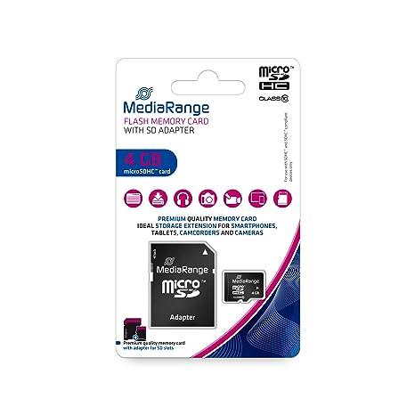 MediaRange MR956 Tarjeta de Memoria SDHC 4 GB Grado 10 con ...