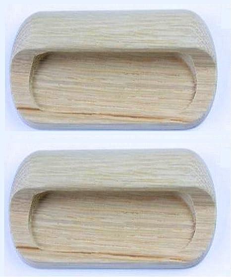 10x White Wooden Recessed Handle 110mm Cabinet Wardrobe Kitchen Door Knobs