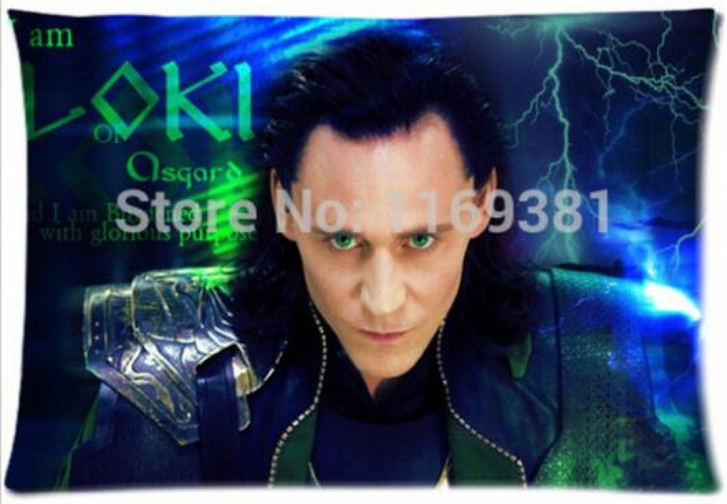 E-FASHION Hot Sale Custom Loki Cool Man Fashion Cotton Zippered Decorative Single Pillow Case Standard Size 20X30Inch(Two Sides)(Twin Sides)