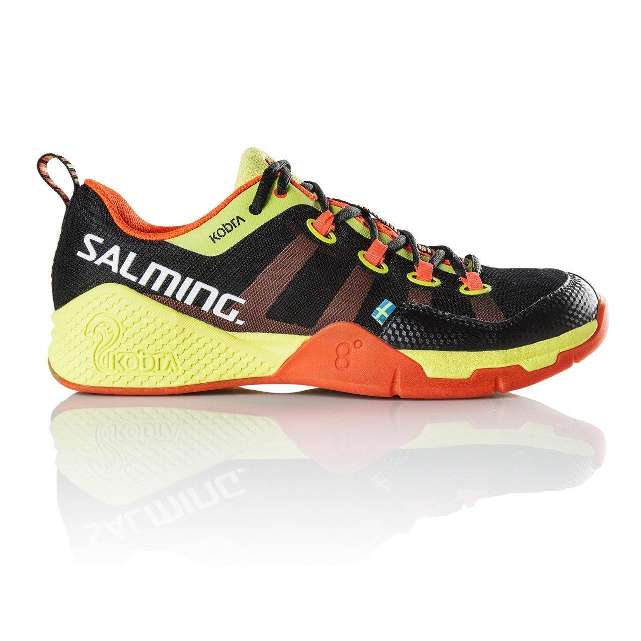 Salming Kobra Mens Squash Shoes (11, Black/Orange)
