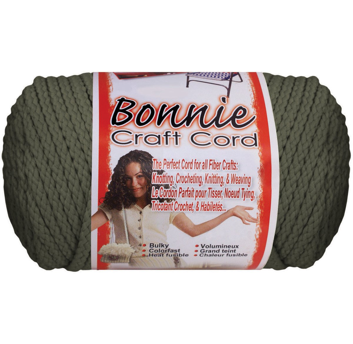 Pepperell Bonnie Macrame Craft Cord 6mmX100yd-Smoke Gray