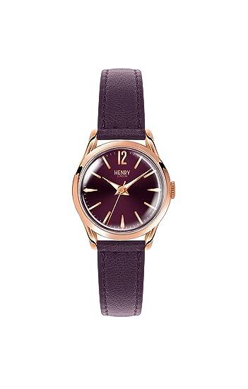 Henry London Reloj Análogo clásico para Mujer de Cuarzo con Correa en Cuero HL25-S-0192: Amazon.es: Relojes