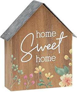 Collins Painting House Shaped Mini Wood Block Sign (Home Sweet Home)