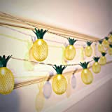 Pineapple String Lights, 10LED 10 Ft Battery Operated Pineapple Lights for Decoration Home Bedroom Patio Balcony Party Festiv