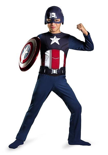 Amazon.com: Disfraz de capitán américa Vengadores, S (4-6 ...