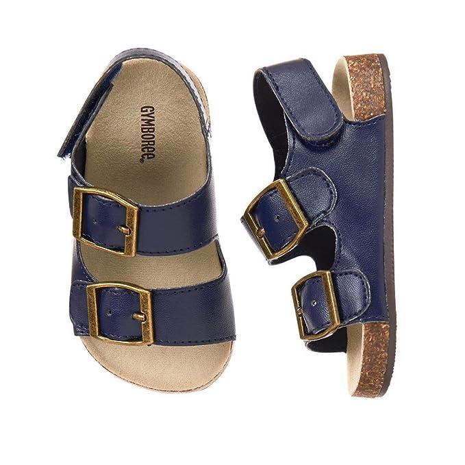 Amazon Com Gymboree Tiny Tropics Navy Blue Beach Cork Sole Sandals