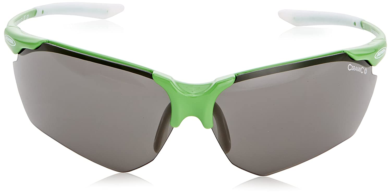 Alpina A8510025Motiv Splinter HR C + Lunettes de soleil/TITANE/Noir Verres orange anti-buée S1, damen Herren, Splinter HR C Plus, green-white