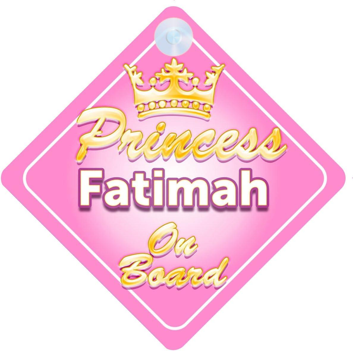 La princesse zahra à bord personnalisé bébé fille VOITURE SIGNE