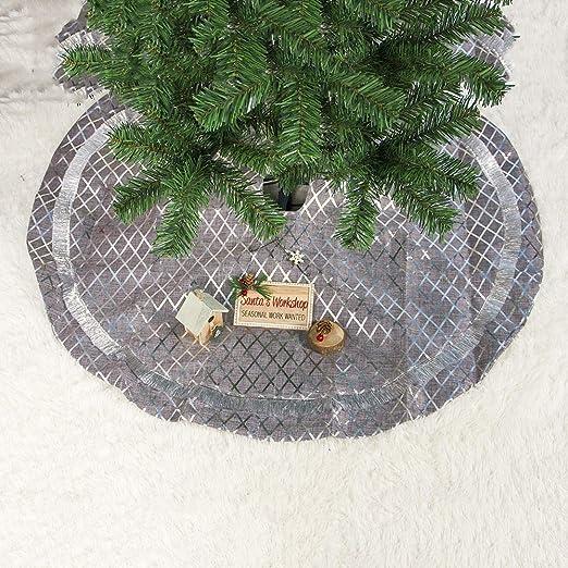 LYX 2 PCS de Navidad de plata de fondo de la tela escocesa del ...