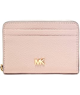 d08282bde97 Michael Kors MICHAEL by Money Pieces porte-cartes pour femme, portefeuille  en cuir rose