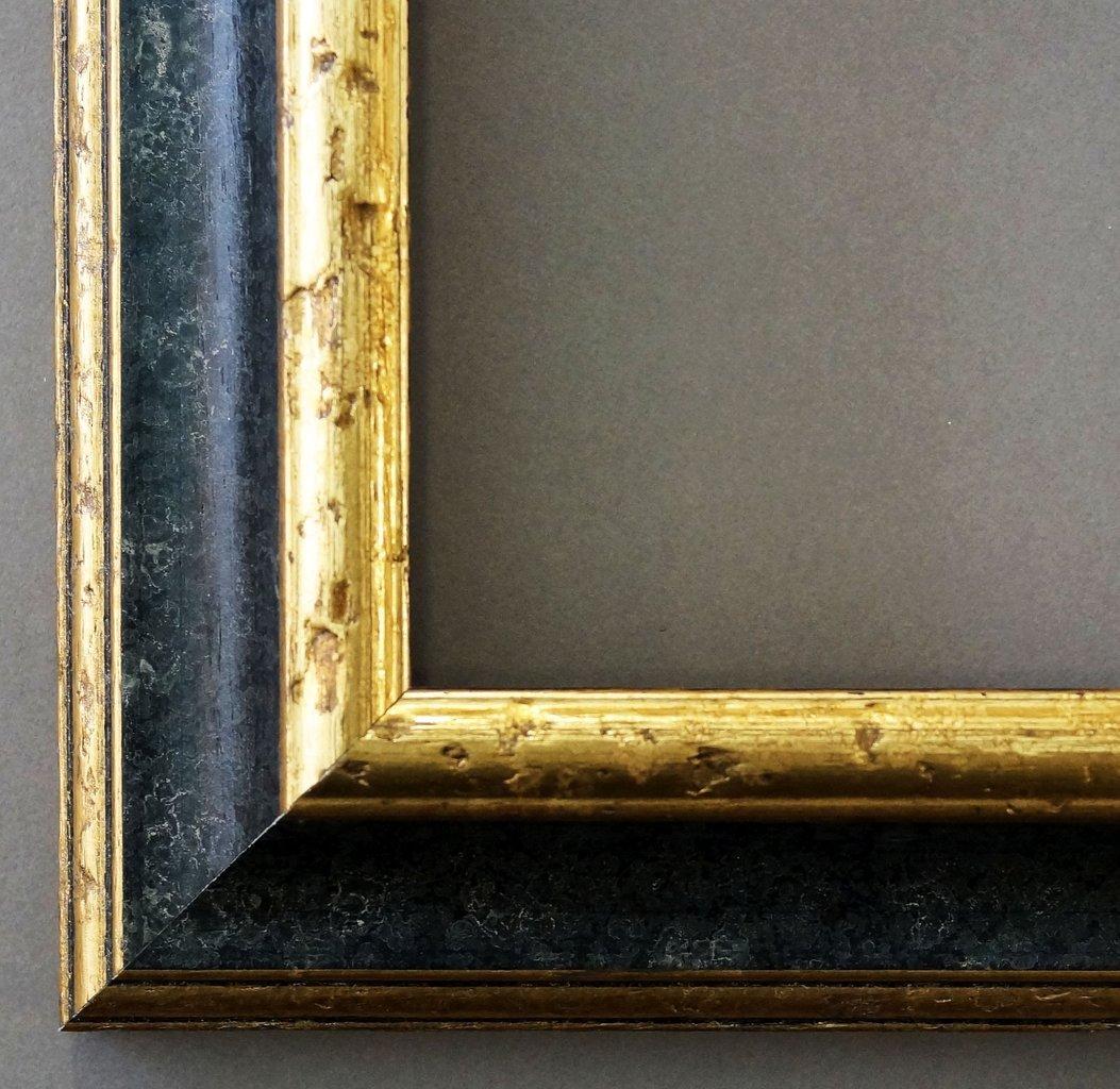 Bilderrahmen Genua Schwarz Gold 4,3 - LR - 60 x 90 cm - 500 ...