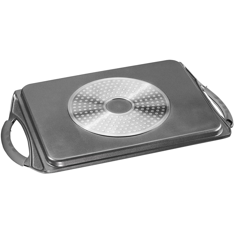 STONELINE Grillplatte induktionsgeeignet Aluminium grau