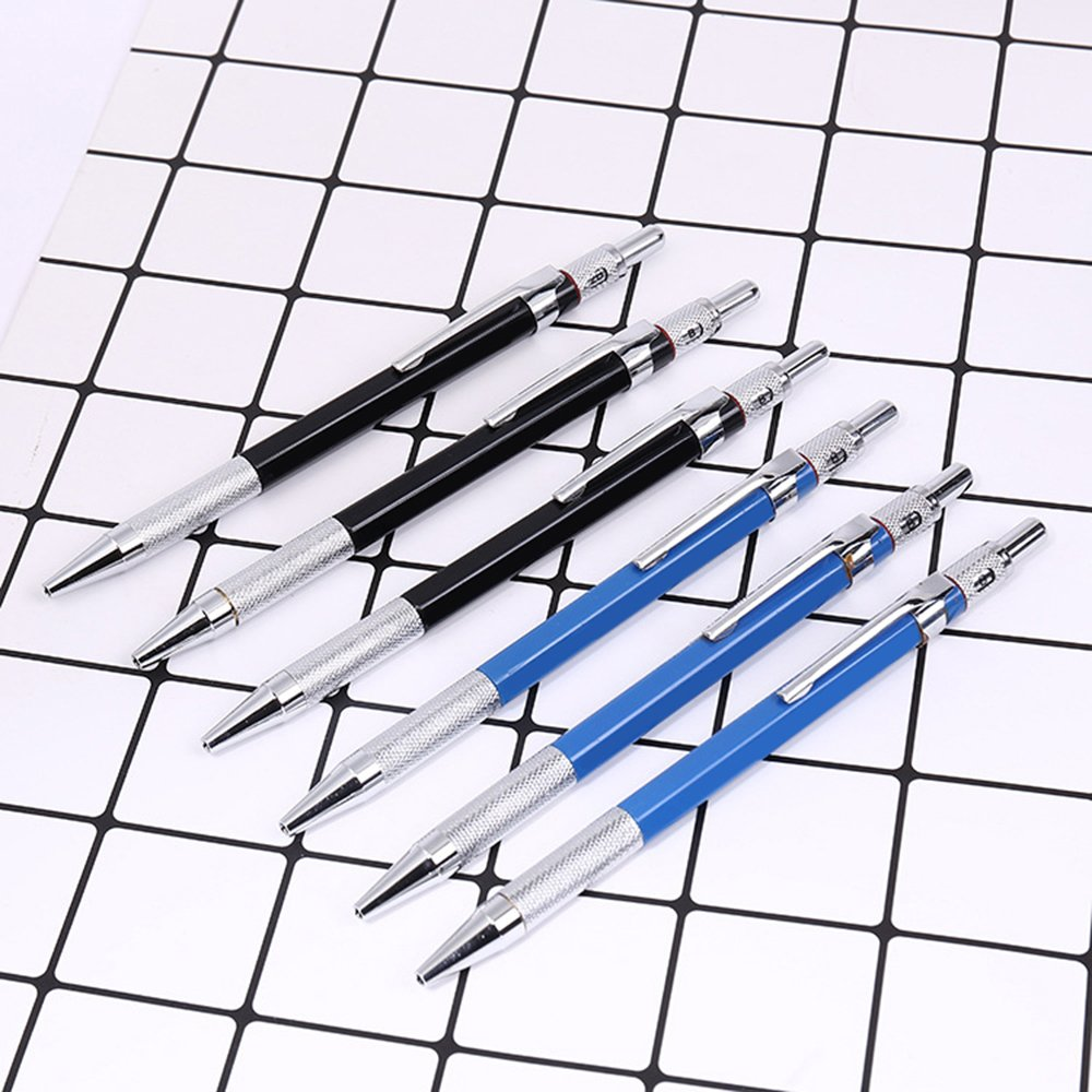 GerTong 1 Pcs Automatic Pencil Mechanical Pencil with 1 Box 2.0mm Lead Refill for Students Children Writing Drafting Drawing Painting (Blue) FT707MG30PW3R146HLFJ169