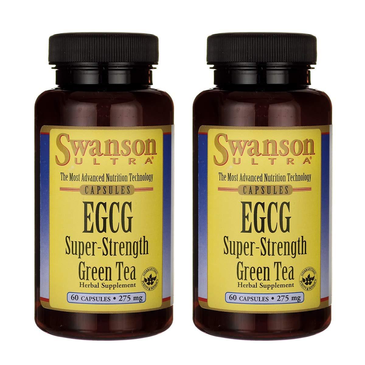 Swanson Egcg Super-Strength Green Tea 275 Milligrams 60 Capsules (2 Pack)