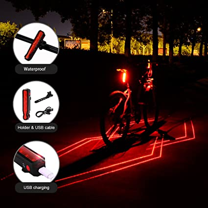 3f623cd6a909fb Cycling RECHARGEABLE LED FRAME Waterproof Flashing Modes Bike Bicycle Tail  Light Safety Bicycle Accessories