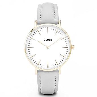 Amazon.com  CLUSE La Bohème Gold White Grey CL18414 Women s Watch ... c121566c38