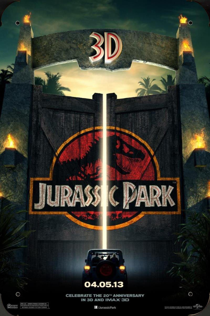 Jurassic Park Ver3 pelicula metal poster cartel hojalata ...