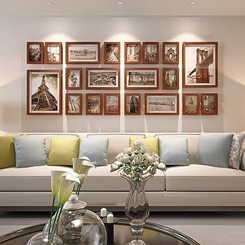 Bilderrahmen Collage Wohnzimmer Massivholz Kombination Foto Wand Kreatives  Schlafzimmer Großformat Rahmen Hintergrund Dekorationen ( Farbe :