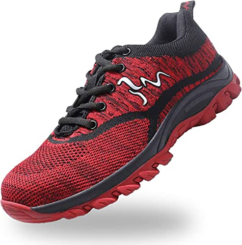 JACKSHIBO Steel Toe Construction Shoes for Men Women Safety Work Indestructible Shoes Puncture Proof Composite Toe Hiking Shoes