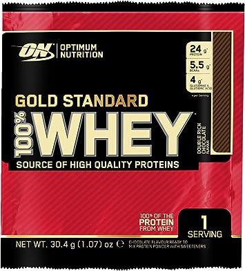 Optimum Nutrition Gold Standard 100% Whey Proteína en Polvo, Chocolate - 24 unidosis
