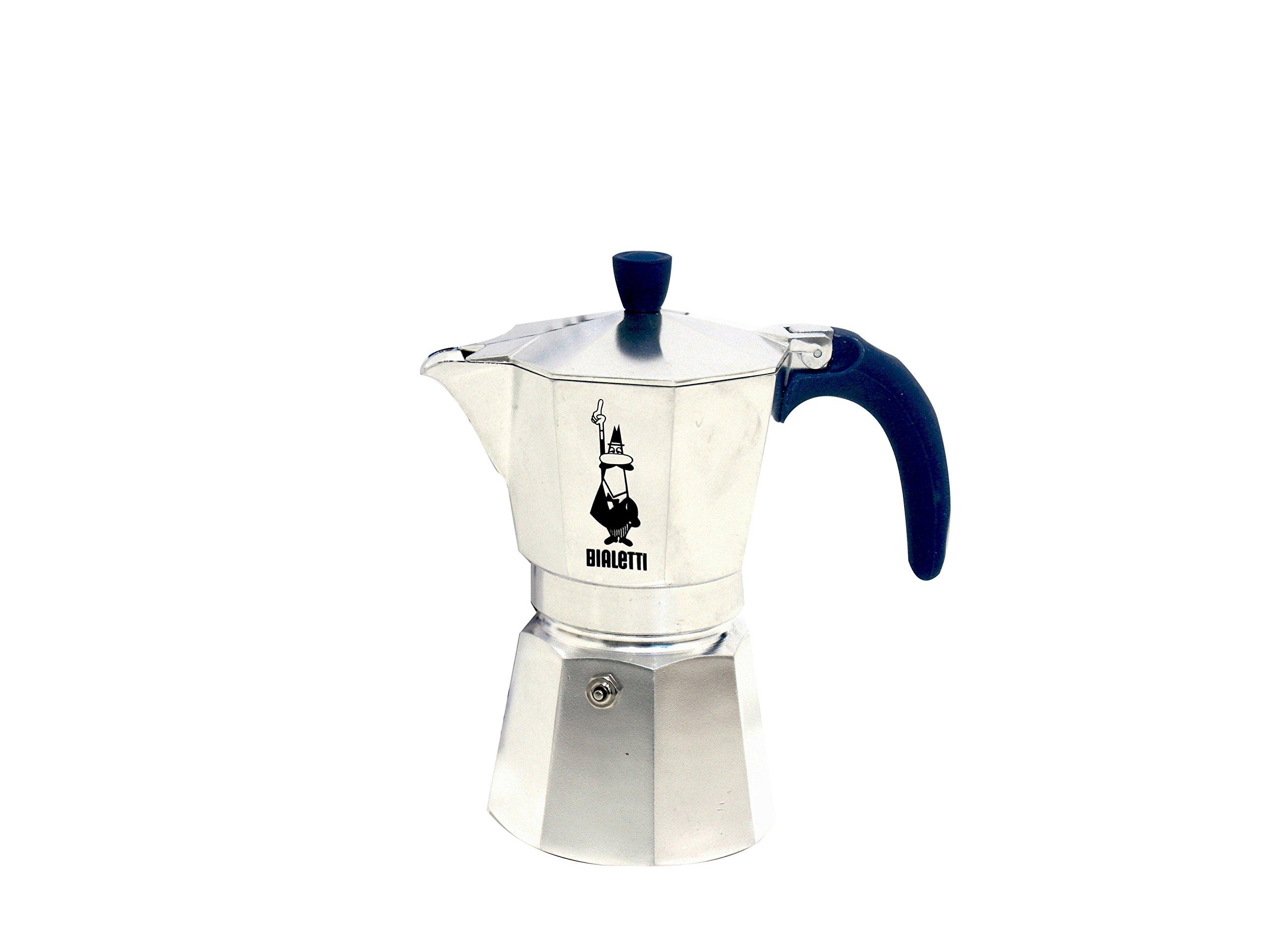 Bialetti Moka Express - Aluminium 6 cups with blue handle