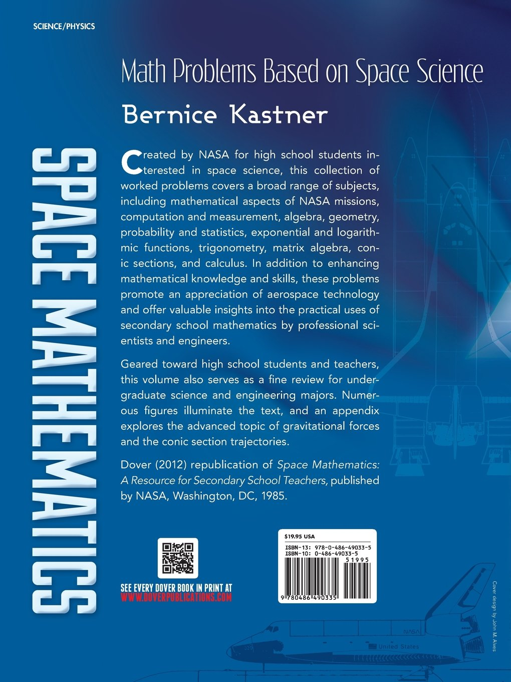 Space Mathematics: Math Problems Based on Space Science (Dover Books ...