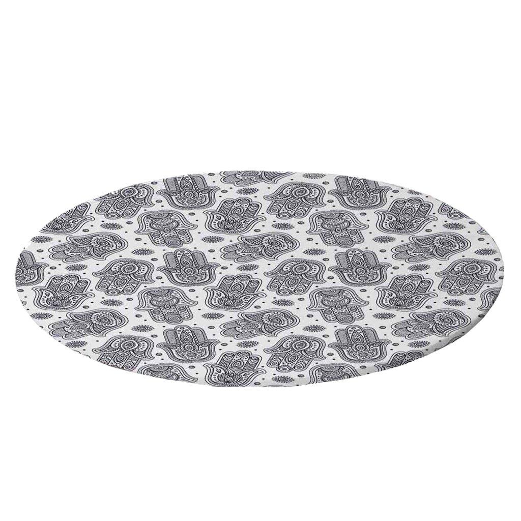 Cubierta de Mesa de Poli/éster LOVIVER Mantel Redondo Ajustable Resistente a Agua para Cenas a Aire Libre en Interiores Estilo C 1.2m